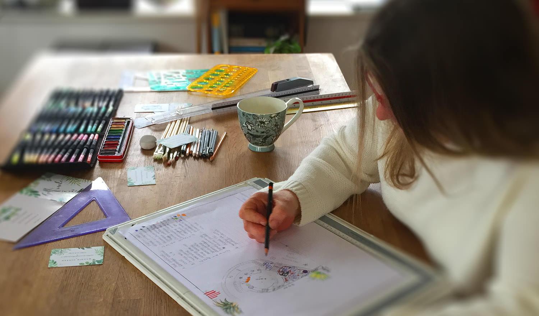 Maddie Dineen Garden Design Drawing